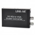 LINK-MI LM-SVG1 3G SDI to VGA Scaler Video Converter - Black