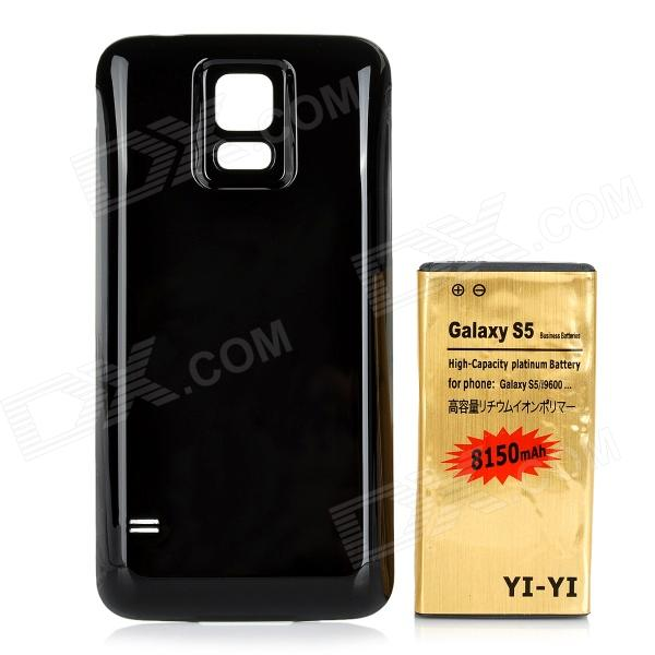 YI-YI 3.8V 6800mAh Li-ion Battery + ABS Back Case for Samsung Galaxy S5 G900 - Black + Gold replacement back camera circle lens for samsung galaxy s5 g900 black