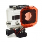 PANNOVO G-492 Water Resistant Protective Plastic Lens Filter w/ Strap for GoPro Hero 3+ - Red