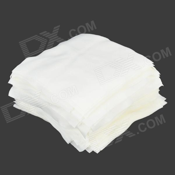 "6"" 1006DLE Polyester Fiber Cleanroom Wiper - White (150 Sheets)"