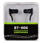 BT-H06 Sports Mini Stereo Bluetooth V3.0 In-Ear Earphones w/ Microphone for Running - Black + Blue