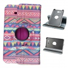 Tribal Lines Pattern 360 Degree Rotatary PU Case w/ Stand for Samsung Galaxy Tab 3 Lite T110 / T111