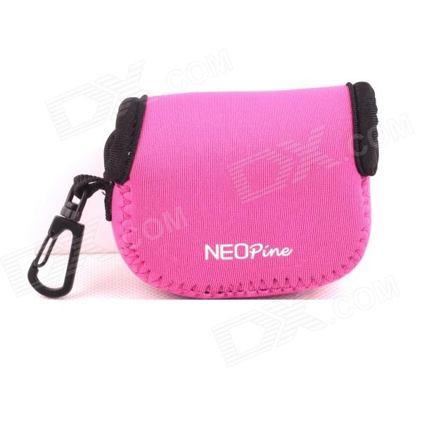 NEOpine G-423-Pink Mini Protective Portable Neoprene Camera Bag for Gopro Hero 4/ 3+ / 3 / 2 - Pink neopine travel portable camera accessories storage bag for gopro hero 2 3 3 4 red