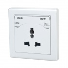 5V 2.1A Dual-USB Port + EU / US / UK Plug AC Power Socket Wall Panel (AC110V~250V/10A)