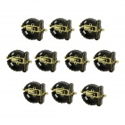 DIY 12.5mm 3V PPS Cell Button Battery Holders for CR1220 - Black (10 PCS)