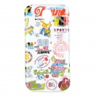 Arabic Numerals + English Words Patterned Protective TPU Back Case for Samsung Galaxy i9500 - White