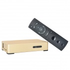 S802 Android 4.4 Bluetooth V2.0 ARM Cortex A9 Quad-core HD Network Set-top-box w/ TF - Golden