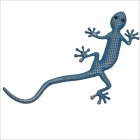 Carking DIY Gecko Style Car / Motorcycle Decorative Zinc Alloy Sticker - Blue