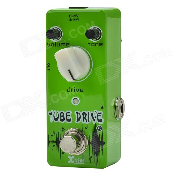 Xvive V7 Overdrive Mini Guitar Effects Pedal / Tube Drive - Vert pomme