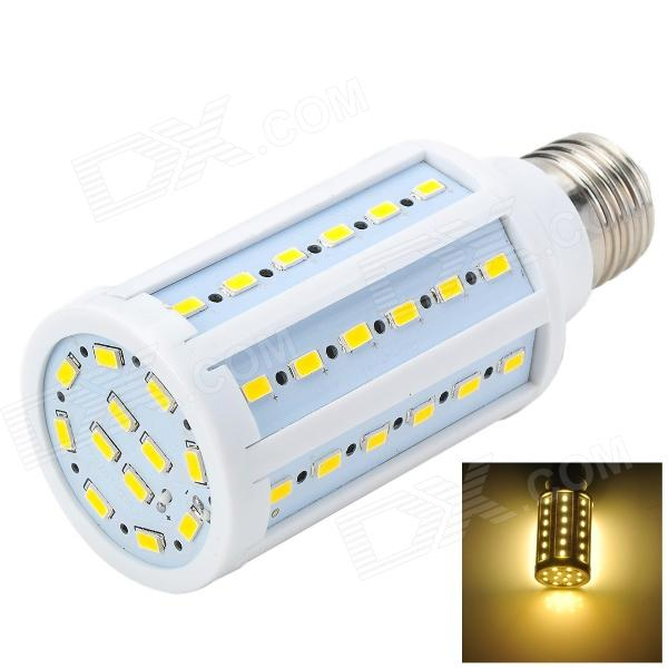 Marsing L25 E27 12W 1200lm 3500K 60-SMD 5730 LED Warm White Corn Lamp - White + Yellow (AC 220~240V) marsing e14 frosted cover 10w 1000lm 3500k 56 x smd 5730 led warm white light bulb lamp ac 220v