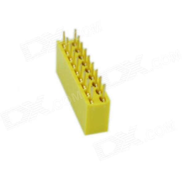 2,54 mm Doble Fila 9 pines hembra Connector Plugs - Yellow (5 PCS)