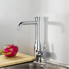Vase shape Contemporary Chrome Finish Kitchen Sink Faucets - Silver