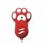 TY-102 Dog Footprint Style Wireless Bluetooth Remote Control Self-timer for Smartphones - Red