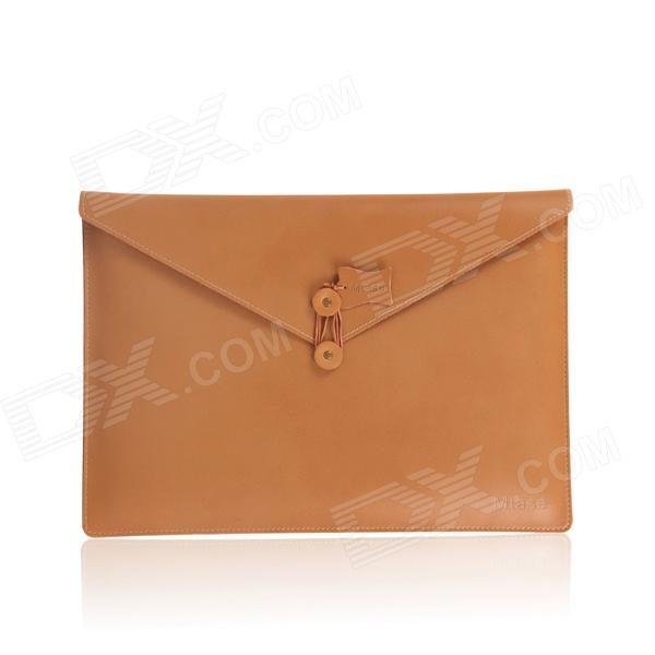 oushine-m13-retro-leather-file-computer-liner-bag-for-133-macbook-air-pro-brown
