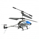 S041G Waterproof 3.5-CH R/C Helicopter Toy w/ Gyro + LED Light - Blue + White