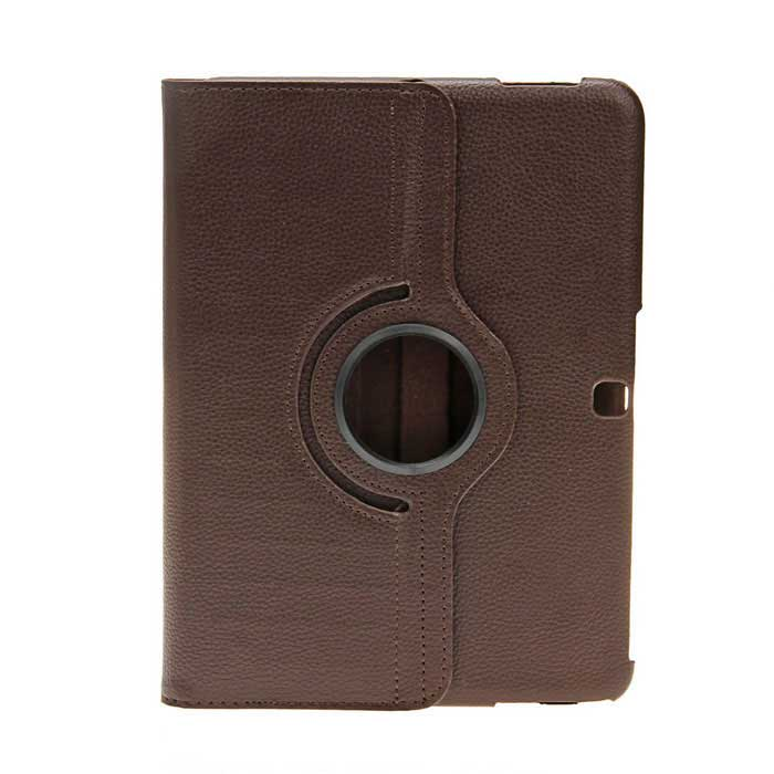 EPGATE A00493 360 Degree Rotary PU + PC Case w/ Stand for Samsung Galaxy Tab 4 T530 - Brown epgate 360 degree rotation protective case cover stand for samsung galaxy tab4 t530 purple