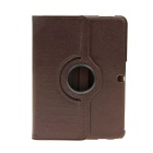 EPGATE A00493 360 Degree Rotary PU + PC Case w/ Stand for Samsung Galaxy Tab 4 T530 - Brown
