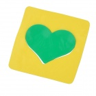 Magic Heart Style Vehicle Car Anti-slip Non-slip Silicone Mat Pad - Yellow + Green