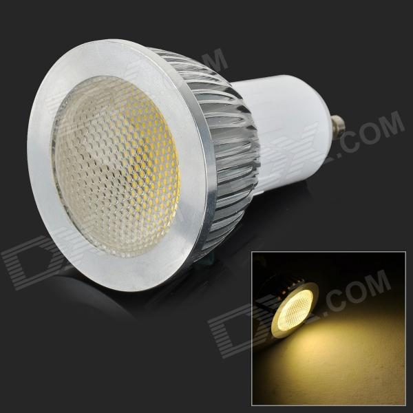 HH09 Dimmable GU10 3W 180LM 3500K COB LED Warm White Light Spotlight Lamp - White + Silver (AC 220V)