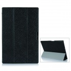 Protective PU Leather + PC Case w/ Magnetic Closure / Stand for Sony Xperia Tablet Z2 - Black