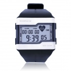 XONIX HRM1 Water Resistant Digital Wrist Watch / Finger-Touch Heart Rate Monitor - Black