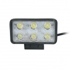 GULEEK GLK-A018SS 18W Spot 6000K 1200lm 6-Epistar LED White Dual-line Work Light - Black (DC 12~24V)