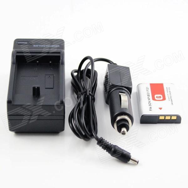 Sony NP-BG1 Battery & Charger for Sony DSC-H10 DSC-H3 DSC-H50 DSC-H7 DSC-H9 np bg1 replacement battery for sony dsc n1 n2 n20 dsc h3 dsc h3 b dsc h7 dsc h7 b dsc h9 more
