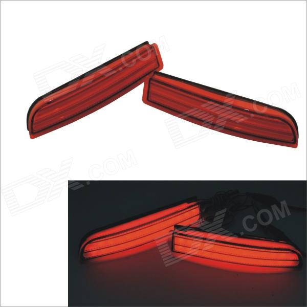 Carking 372 1.5W 150lm 700nm 23-LED Red Rear Bumper Lights for Toyota RAV4 - Red (2 PCS / 12V)