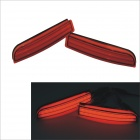 Carking 1, 372 5W 150lm 700nm paraurti posteriore rosso 23-LED luci per Toyota RAV4 - rosso (2 pz / 12V)
