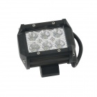 Guleek GLK-C018SS DIY 18W Spot 6500K 1200lm 6-LED White Square Work Lamp - Black (DC 12~24V)
