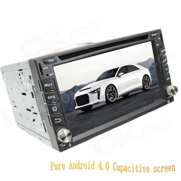 LsqSTAR 6.2 Android Capacitive Screen 2-Din Car DVD Player w/ GPS FM BT WiFi AUX for Nissan Univers автомобильный dvd плеер lg 2 din 8 dvd gps mazda 3 android 3g wifi tv aux bluetooth