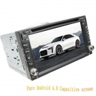 "LsqSTAR 6.2"" Android Capacitive Screen 2-Din Car DVD Player w/ GPS FM BT WiFi AUX for Nissan Univers"