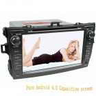 "LsqSTAR 8"" Android Capacitive Screen 2-Din Car DVD Player w/ GPS FM BT Wifi SWC AUX for Old Corolla"