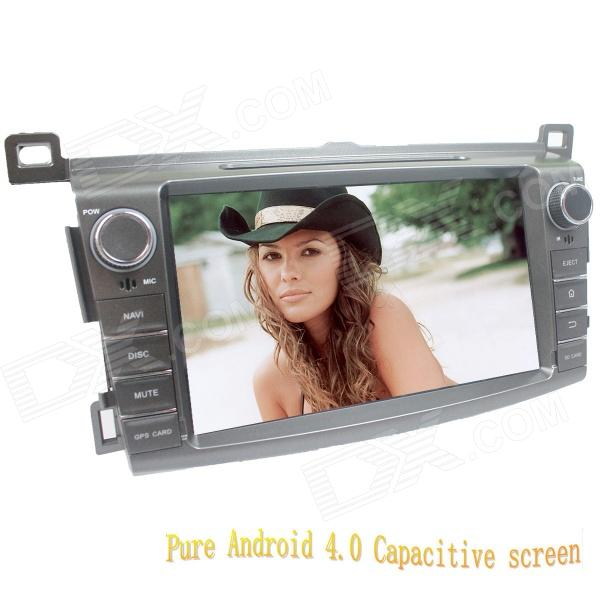 цена на LsqSTAR 8 Android Capacitive Screen 2-Din Car DVD Player w/ GPS FM BT Wifi SWC AUX for Toyota RAV4