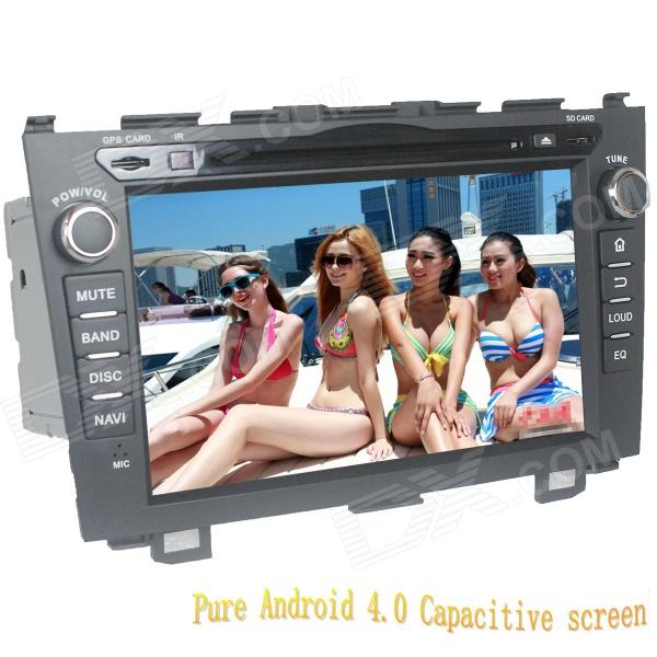 LsqSTAR 8 Android Capacitive Screen 2-Din Car DVD Player w/ GPS FM BT Wifi SWC TV AUX for Honda CRV автомобильный dvd плеер lg 2 din 8 dvd gps mazda 3 android 3g wifi tv aux bluetooth