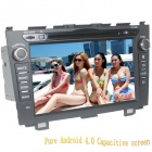 "LsqSTAR 8"" Android Capacitive Screen 2-Din Car DVD Player w/ GPS FM BT Wifi SWC TV AUX for Honda CRV"