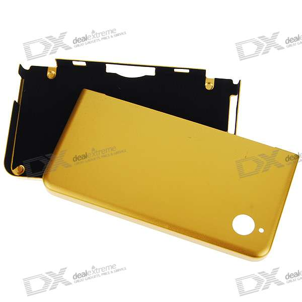 Protective Aluminum Case for DSi LL (Golden)