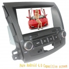 "LsqSTAR 8"" Android Capacitive Screen 2-Din Car DVD Player w/ GPS FM SWC AUX for Mitsubishi Outlander"