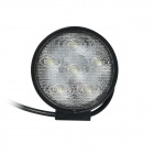 GULEEK GLK-A018FC 18W Flood 6000K 1200lm 6-Epistar LED White Dual-line Work Light - Black (12~24V)