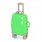RYVAL Cute Luggage Style Water Resistant USB Flash Drive - Green (8GB)