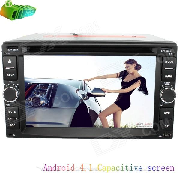 LsqSTAR Universal 6.2 Android 4.1 Capacitive Screen Car DVD Player w/ GPS Radio TV WiFi SWC AUX pvt 898 5g 2 4g car wifi display dongle receiver airplay mirroring miracast dlna airsharing full hd 1080p hdmi tv sticks 3251