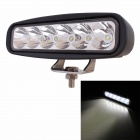 MZ 18W 1440lm 6500K 6-Cree XB-D LED White Spot Off-Road Car Work Light - Black (10~30V)