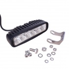 MZ 18W 6500K 1440lm 6-LED White Flood Off-Road Car Work Light - Black (10~30V)
