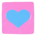 Magic Heart Style Anti-slip Vehicle Silicone Mat Pad - Deep Pink + Blue