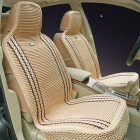 EL14042701 Summer Viscose Car Seat Cushion Set - Beige + Brown