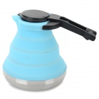 Portable Fold-up Stainless Steel + Silicone Kettle - Blue