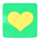 Magic Heart Style Anti-slip Vehicle Silicone Mat Pad - Yellow + Green