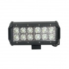 GULEEK GLK-C036F 36W Flood 6000K 2520lm 12-LED White Dual-line Work Light Bar - Black (12~24V)