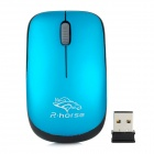 rf-2813C 2.4GHz Wireless 2400dpi Gaming Mouse - Blue + Black