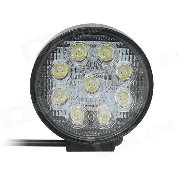 GULEEK CRX-H027 Spot 27W 1900lm 6000K 9-LED White Off-road Car Circular Working Lamp (DC 12~24V)